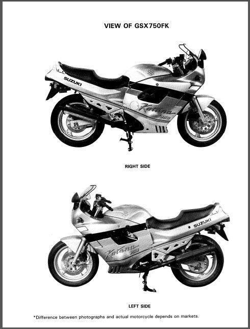 89-97 suzuki gsx750f katana service repair workshop manual cd    gsx 750 f 750f for sale