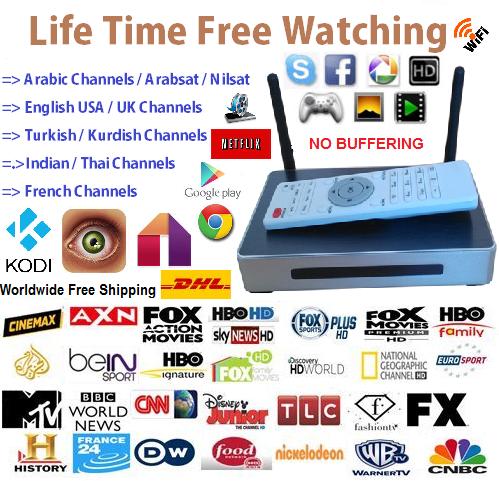 English, Arabic, French, Indian, Thai, Live Tv, IPTV, 800+ Channels FREE  Lifetim