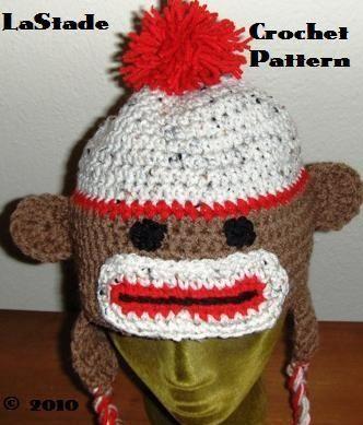 Easy Sock Monkey Hat Crochet Pattern Pdf File For Sale Item 1436178