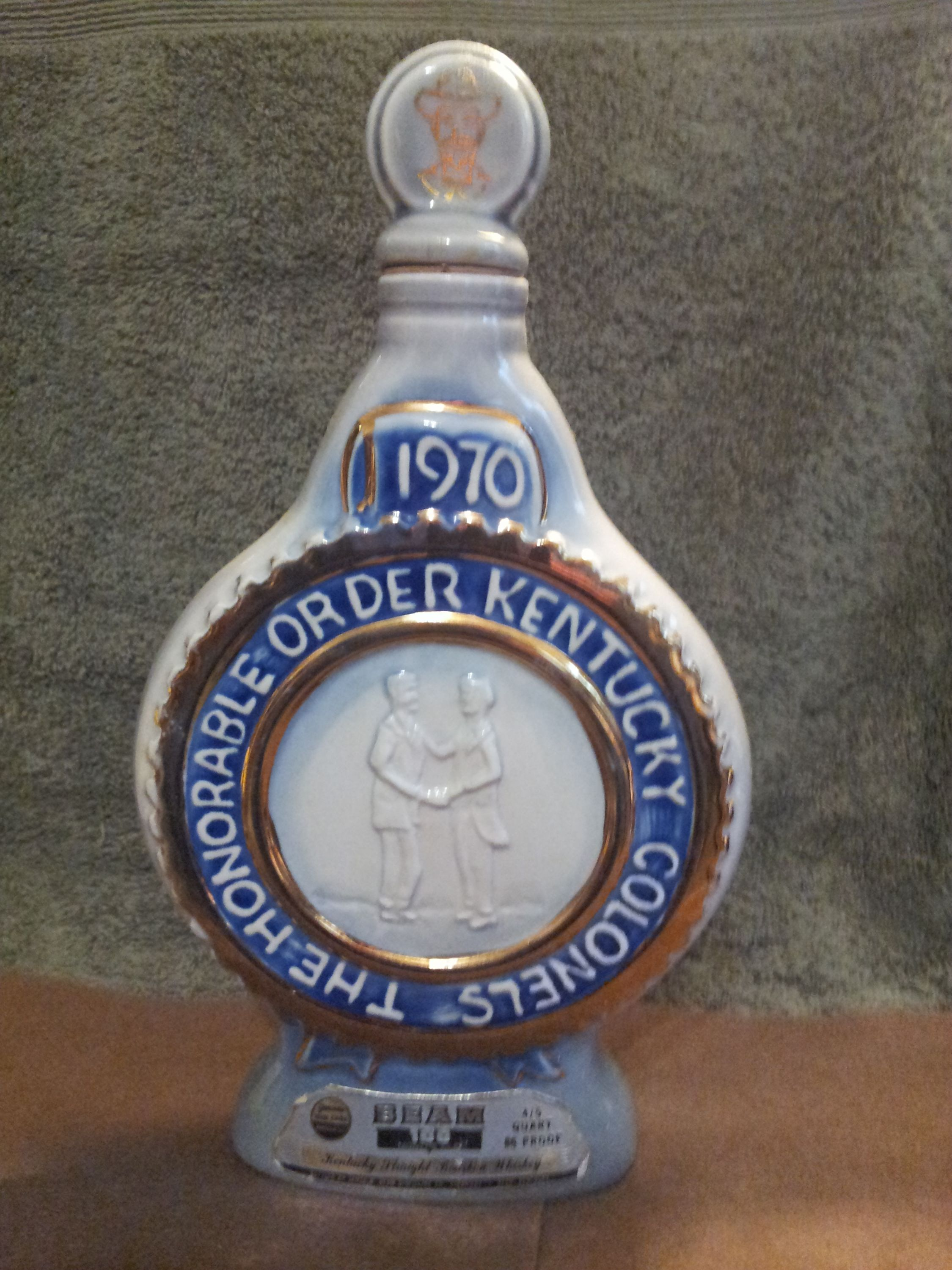 Rare 1970 Jim Beam The Honorable Order Kentucky Colonels