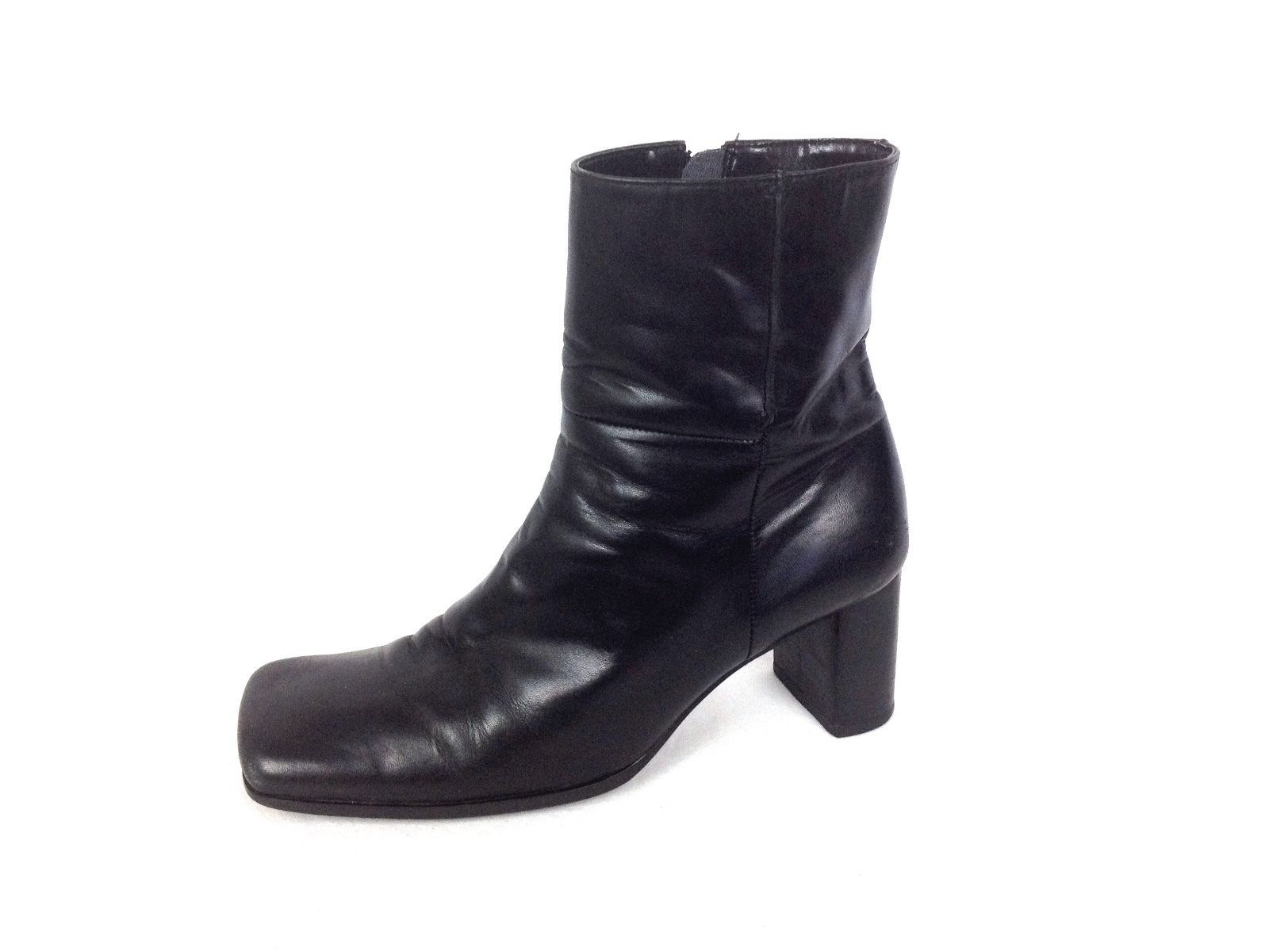 Nine West Shoes 6 5 Womens Black Leather Boots For Sale