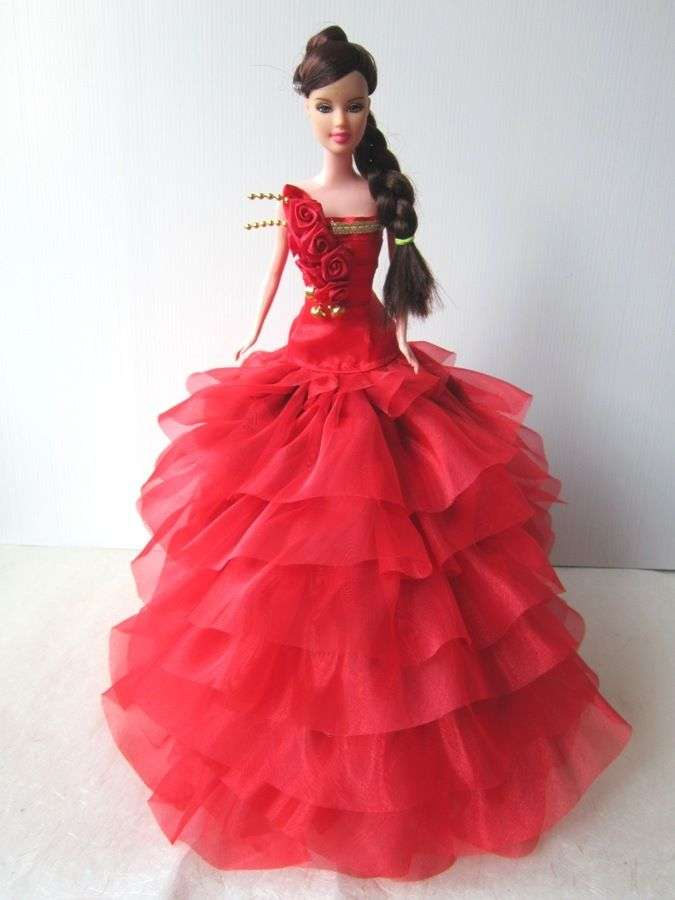 RED EVENING GOWN PARTY COSTUMES DRESS UP OUTFIT FANCY FASHION FOR ...