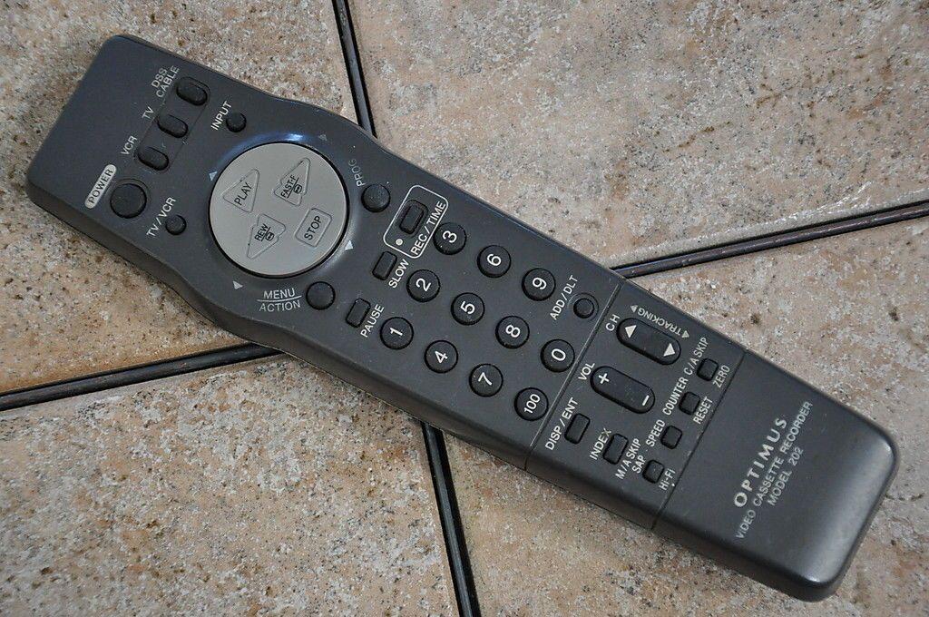 Optimus Remote Control Vsqs1612 Model 202 4 Head Stereo Vcr Tv Dss Cable Video For Sale