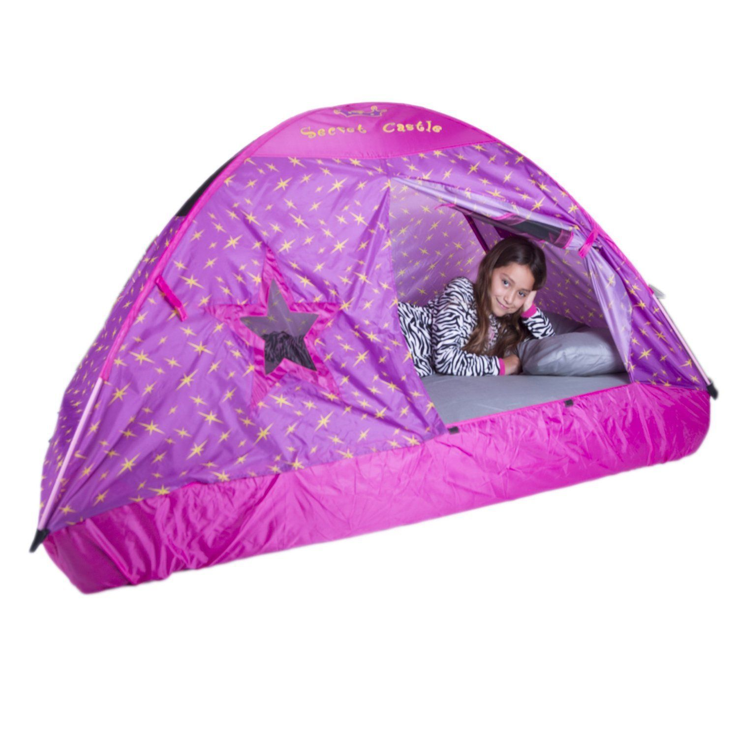 NEW Pacific Play Tent Secret Castle Twin Bed Tent Girls ...
