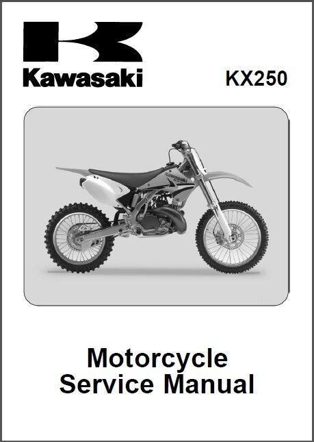 2005 2007 Kawasaki KX250 Service Repair Workshop Manual CD KX 250
