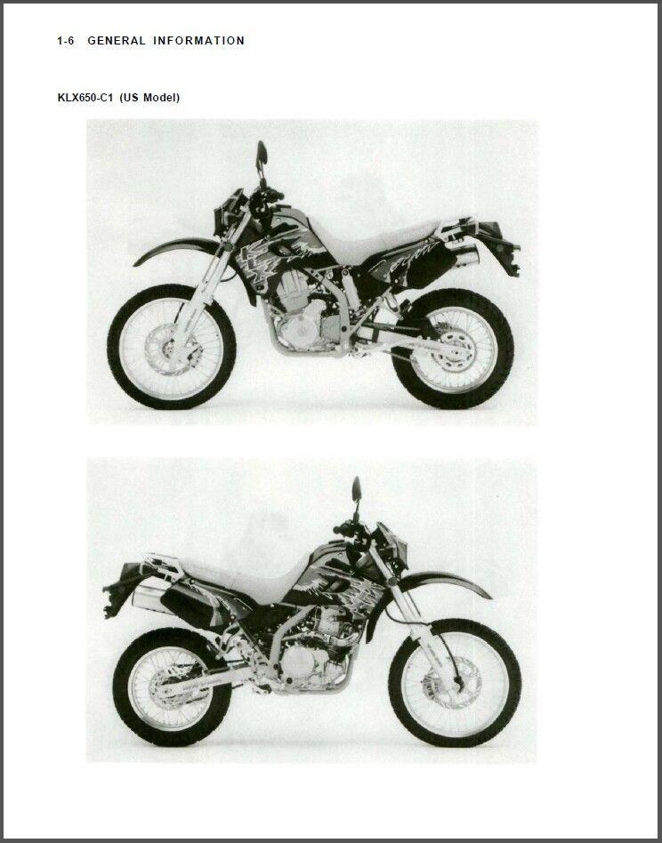 93-96 Kawasaki KLX650 KLX650R Service Repair Manual CD     - KLX 650 R 650R