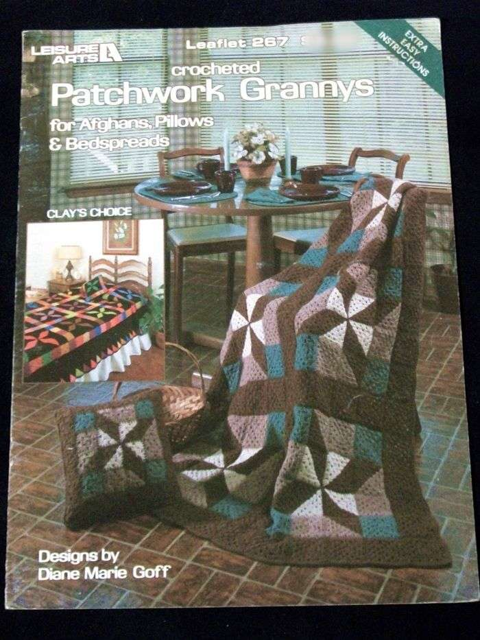 Granny Square Crochet Patchwork Afghan Patterns By Leisure Arts
