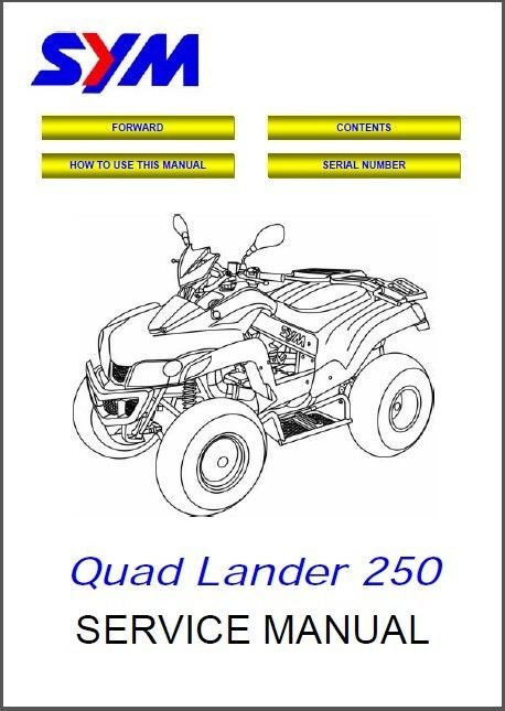 sym quad lander 250 atv service repair workshop manual cd sanyang rh unisquare com Bosch PB10 CD Manual Camouflage Military Manual CD