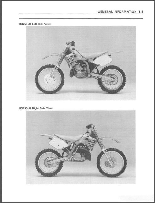 kawasaki kx125 kx250 full service repair manual 1999 2002