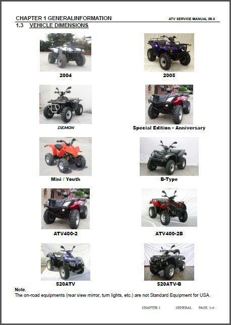 2009 linhai atv service repair manual cd 50 80 100 150 200 260 rh unisquare com Linhai ATV Parts Diagram 2003 Linhai ATV 260Cc Parts