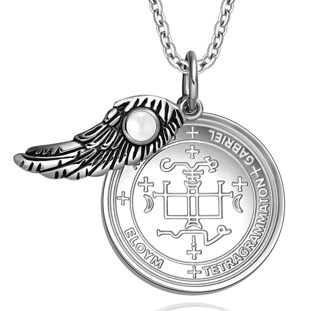 Love Couples Archangel Gabriel Sigils Amulets Set Angel Wings White  Simulated Cats Ey
