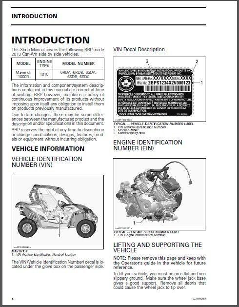 BEST 2013 CanAm Maverick 1000R X RS DPS X MR Shop Service Repair Manual CD