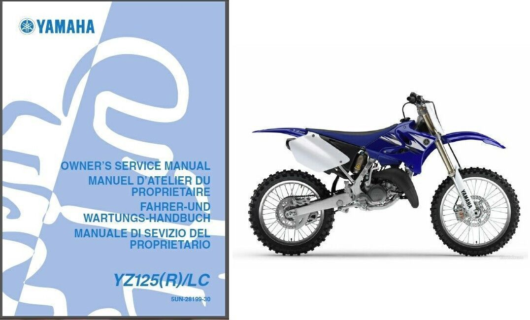 01 08 yamaha yz125 service repair workshop owner 39 s. Black Bedroom Furniture Sets. Home Design Ideas