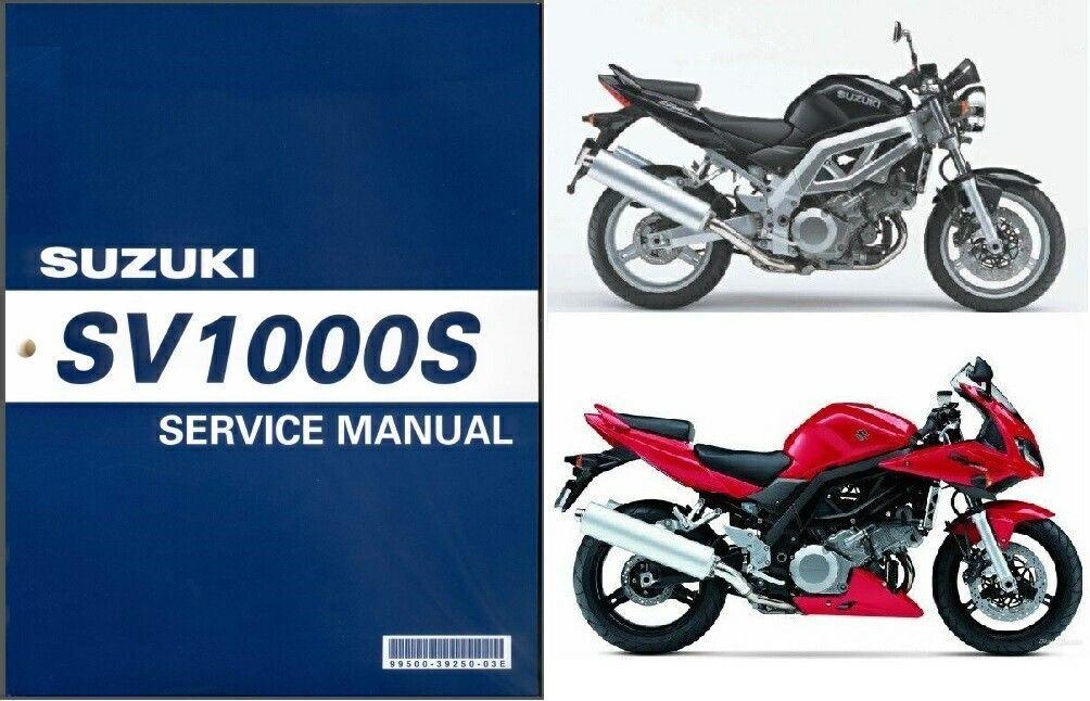 03 07 suzuki sv1000 sv1000s service repair shop manual cd sv rh unisquare com 2004 SV1000 2003 suzuki sv1000 owners manual