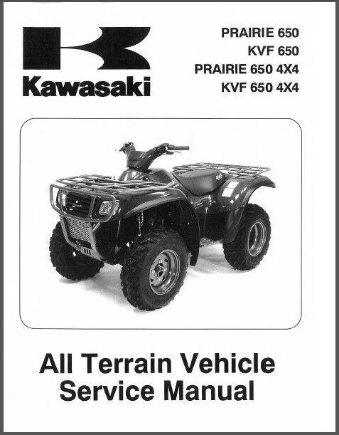 2002 2003 Kawasaki Kvf650 Prairie 650 Service Repair Manual 02 03 Cd