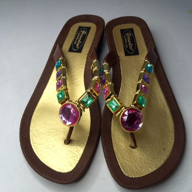 9e1e4870eed089 Grandco Sandals Flip Flop Slides Women Footwear Shoes Pool Lake Brown 7 8 9  10 For Sale - Item  1511245