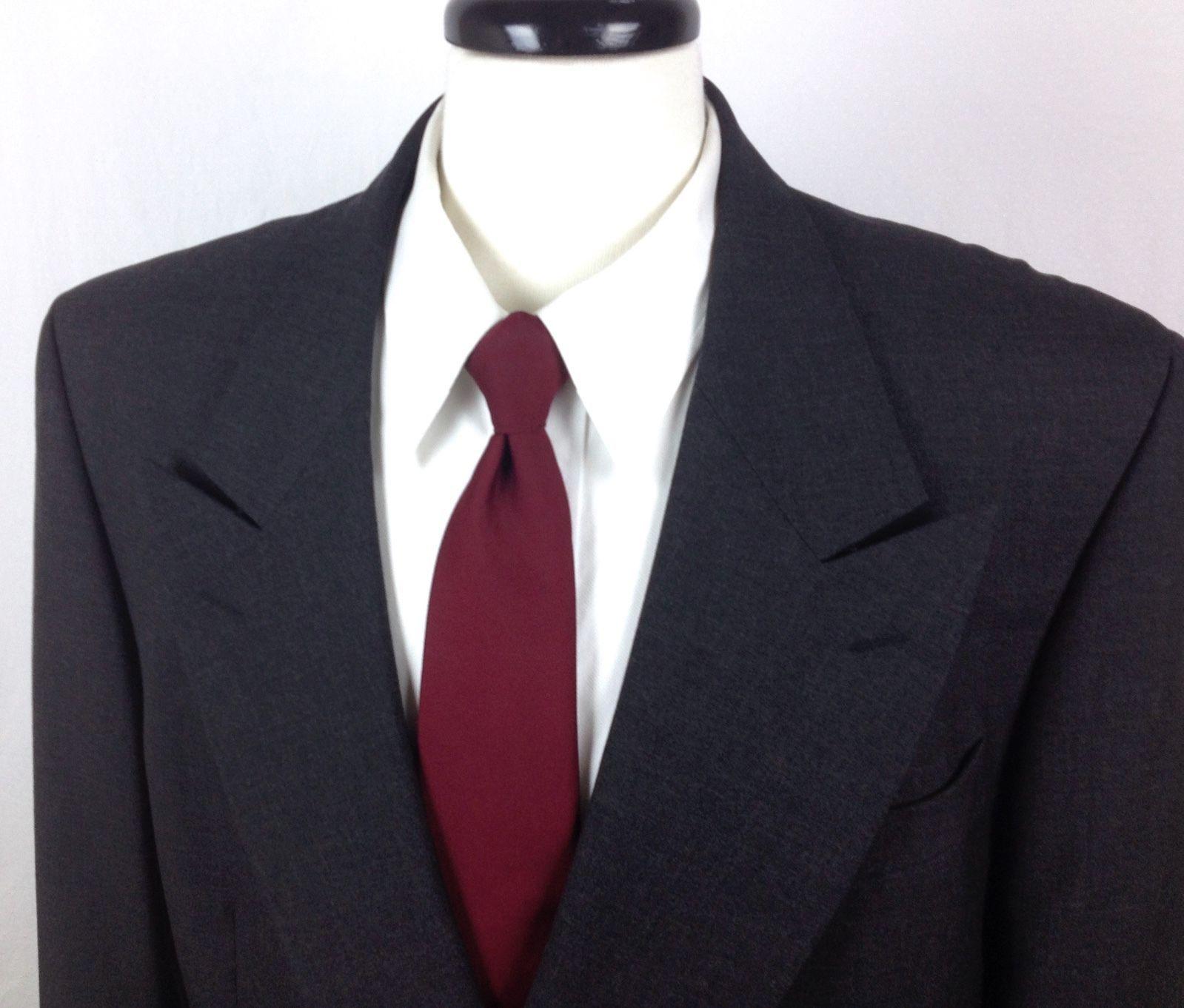 2fed5d191a6 Yves Saint Laurent Blazer Mens 42 L Gray Wool Sport Coat Jacket YSL For  Sale - Item #1474219
