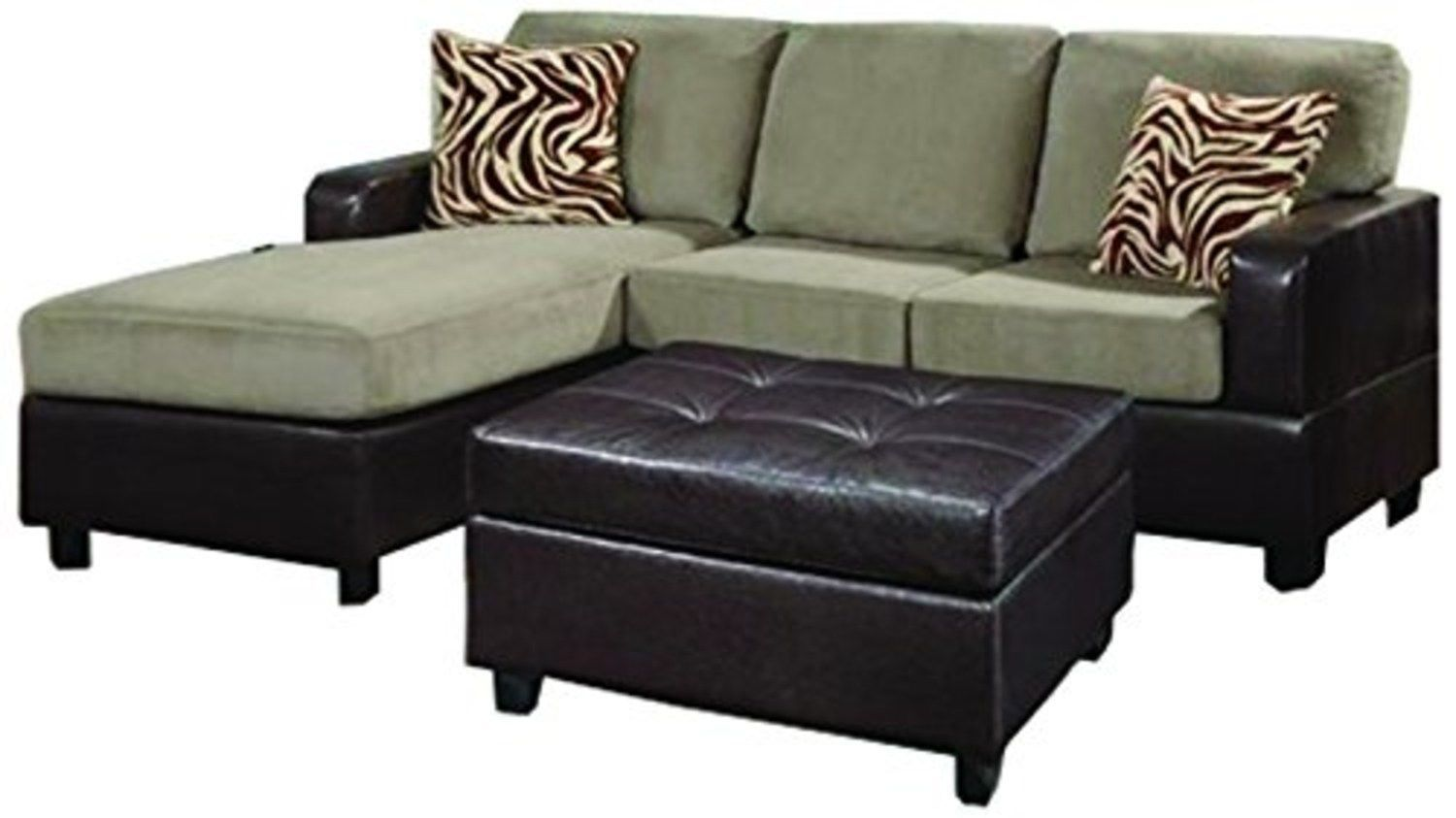 Bobkona manhanttan reversible microfiber 3 piece sectional for 3 piece sectional sofa for sale