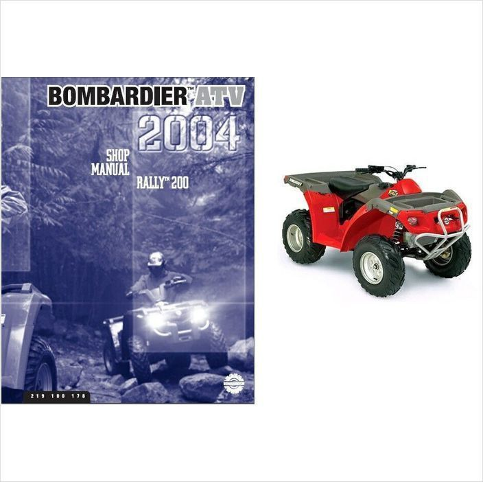 2004 can am rally 200 atv service repair shop manual cd brp rh unisquare com 2004 Bombardier Outlander 400 Parts 2004 Bombardier 330 Outlander