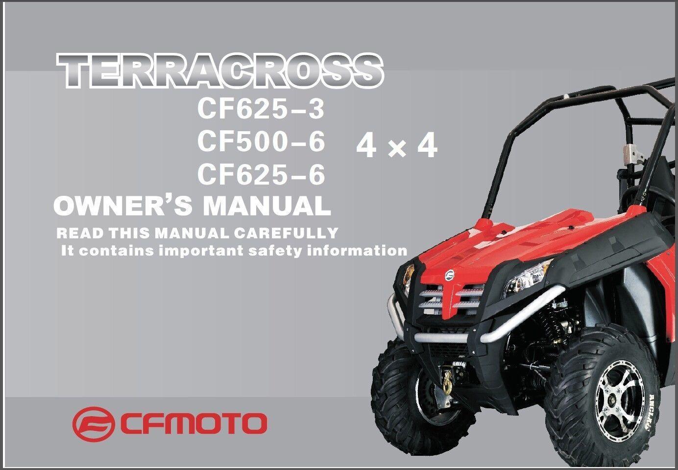 CFMoto Terracross Z6 Z6EX Z5 CF625-3 CF625-6 CF500-6 Service Repair Manual  CD For Sale - Item #1445669