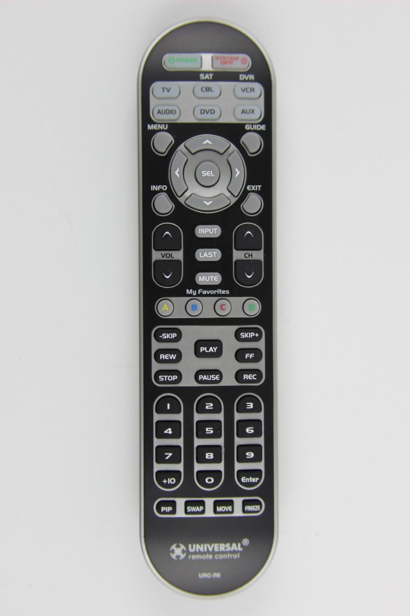 Avex URC R6 Universal Learning Programmable 6-in-one Remote Control