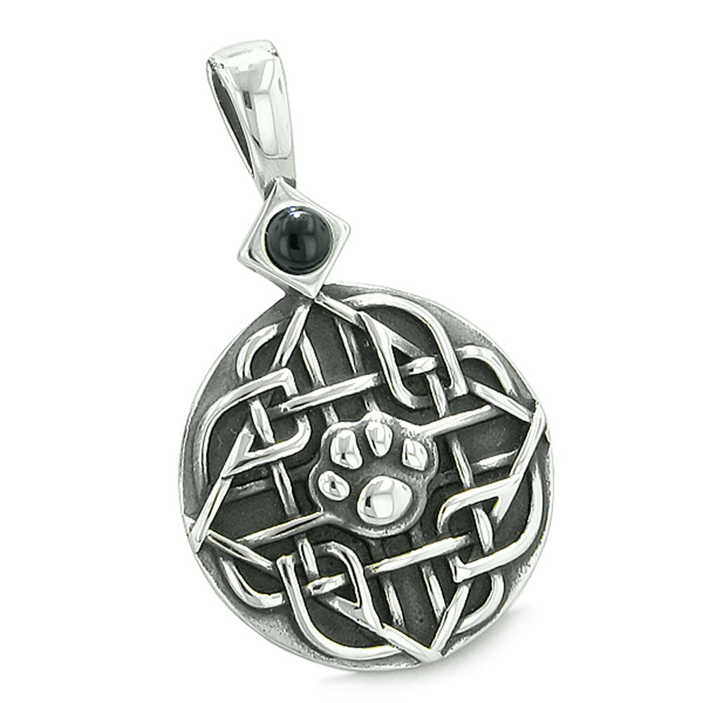 Amulet Courage Wisdom Wolf Ancient Viking Celtic Knot Tiger Eye