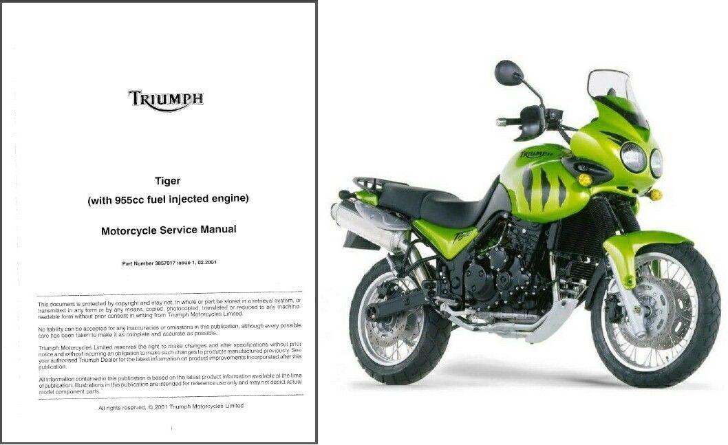 01 06 triumph tiger 955i service workshop repair manual cd. Black Bedroom Furniture Sets. Home Design Ideas