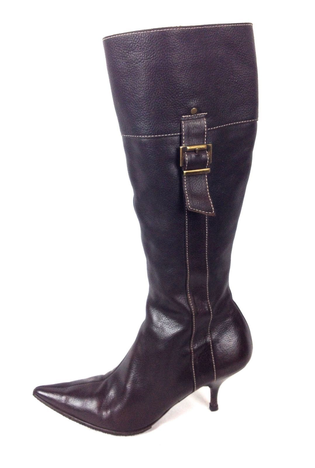 f22fcd5b1bf Zara Shoes 36 6 Womens Brown Leather Boots