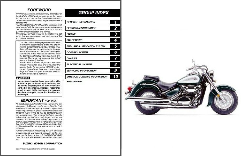 Suzuki Intruder Repair Manual