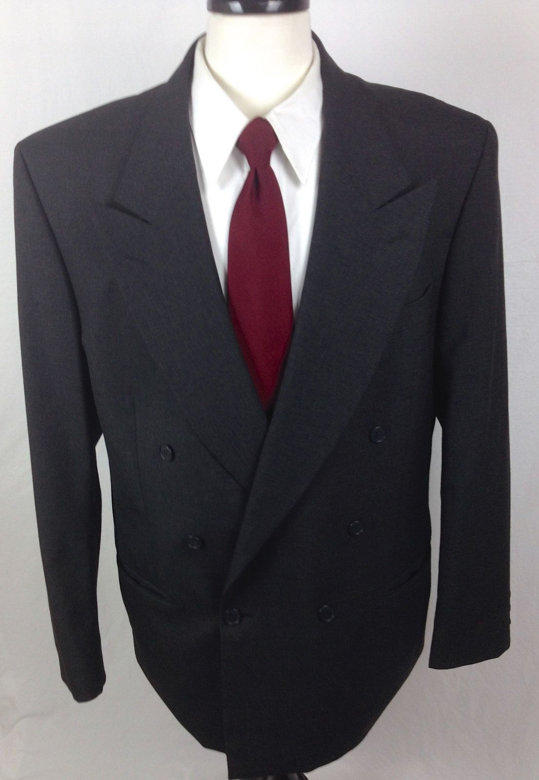 2e1a014a9a3 Yves Saint Laurent Blazer Mens 42 L Gray Wool Sport Coat Jacket YSL For Sale  - Item #1474219