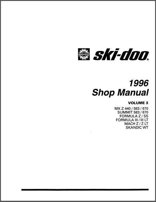 1991 ski doo manual free