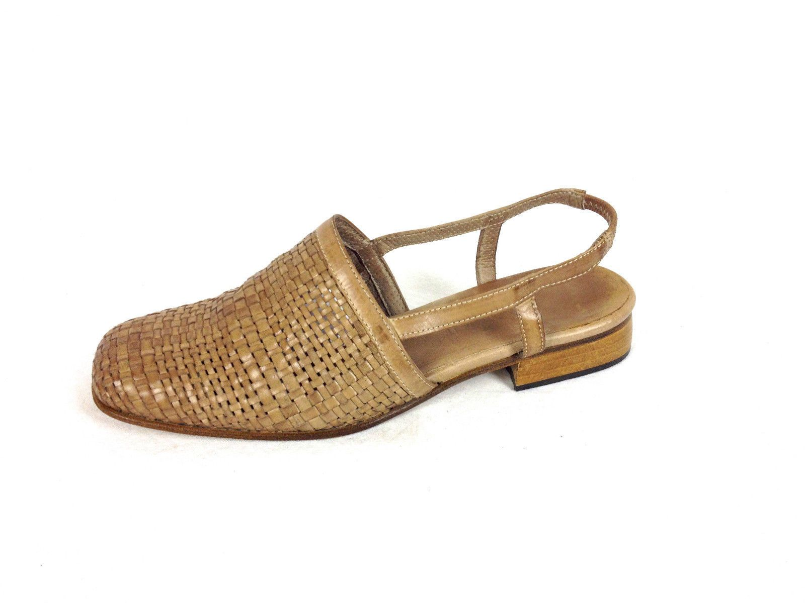 2f170fb2dcd Sesto Meucci Shoes Womens 6.5 Brown Leather Sandals