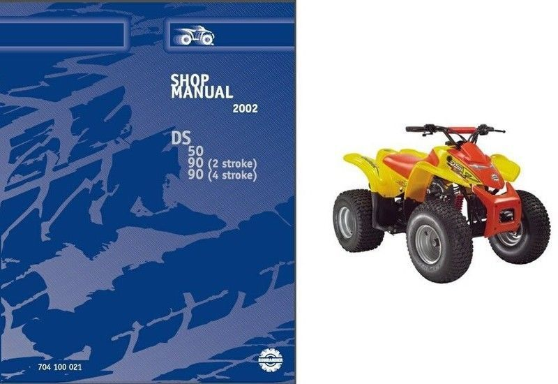 02-03 Can-am Ds50 Ds90 Atv Service Repair Manual Cd