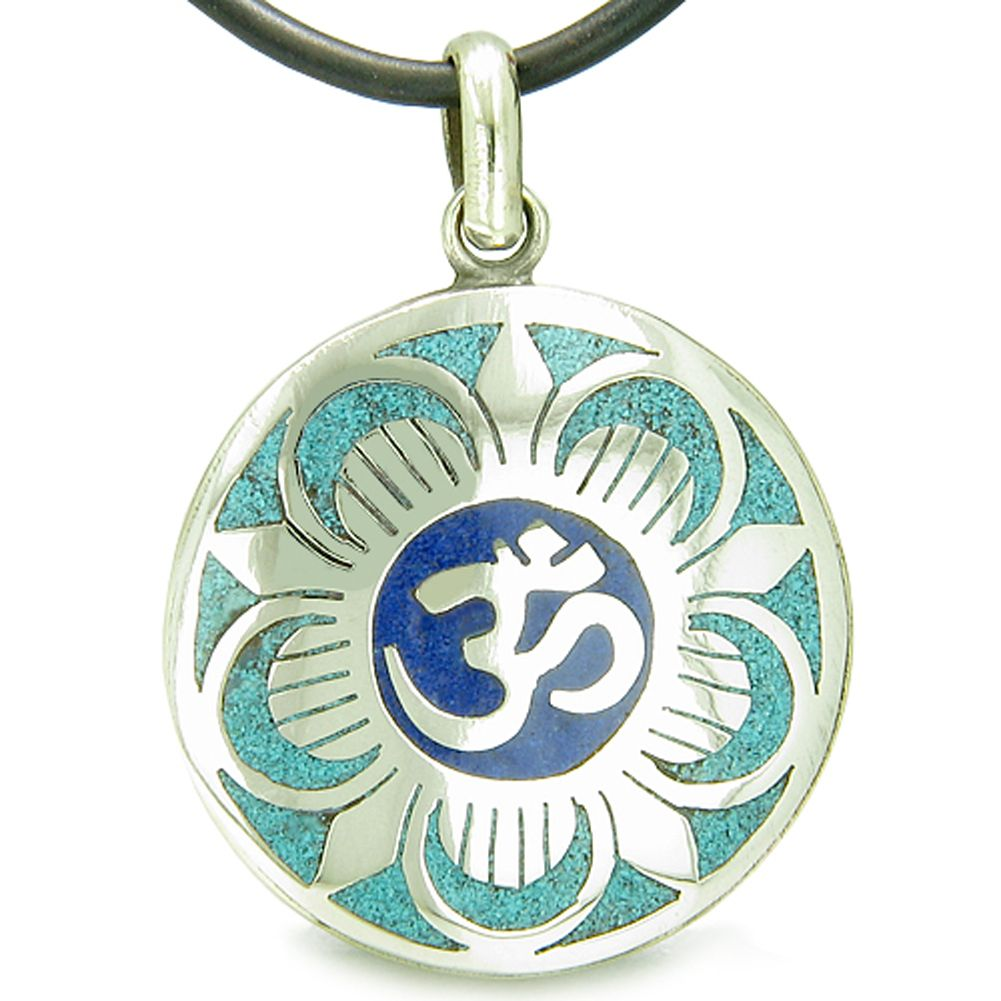 Amulet Ancient Om And Magic Lotus Tibetan Symbol Mosaic Medallion