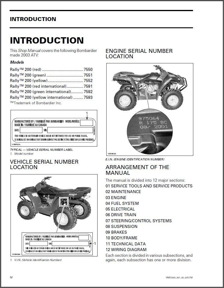 2006 brp outlander atv repair and service shop manual