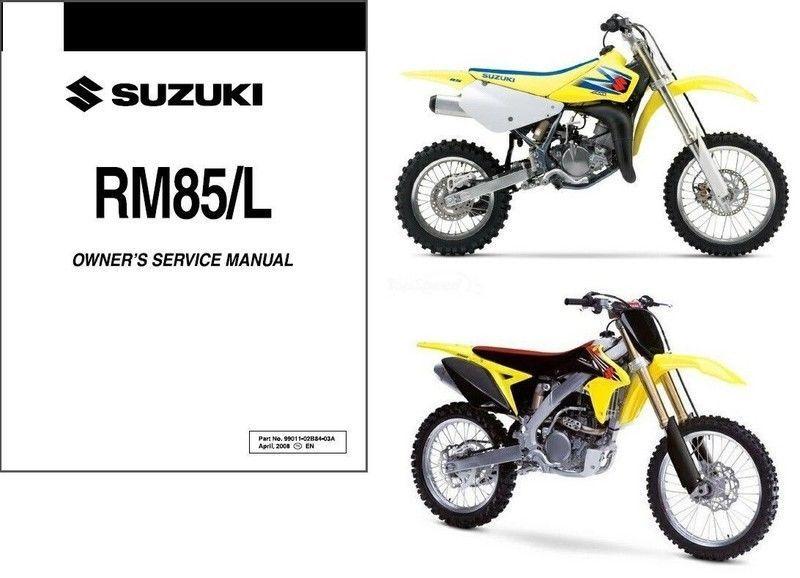 06 13 suzuki rm85 rm85l service repair workshop manual cd rm rh unisquare com 2017 RM 85 Suzuki 2018 Suzuki RM 85