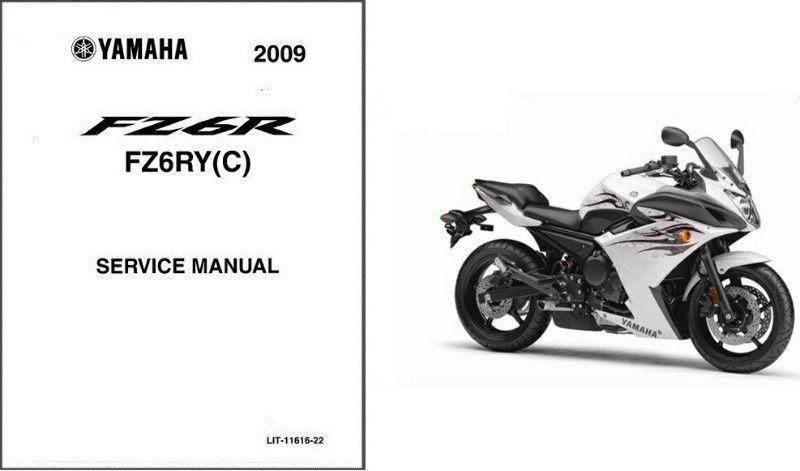 09 13 yamaha fz6r fazer service repair manual cd fz6 fz 6 r 6r rh unisquare com 2005 Yamaha FZ6 Yamaha Fazer Motorcycle