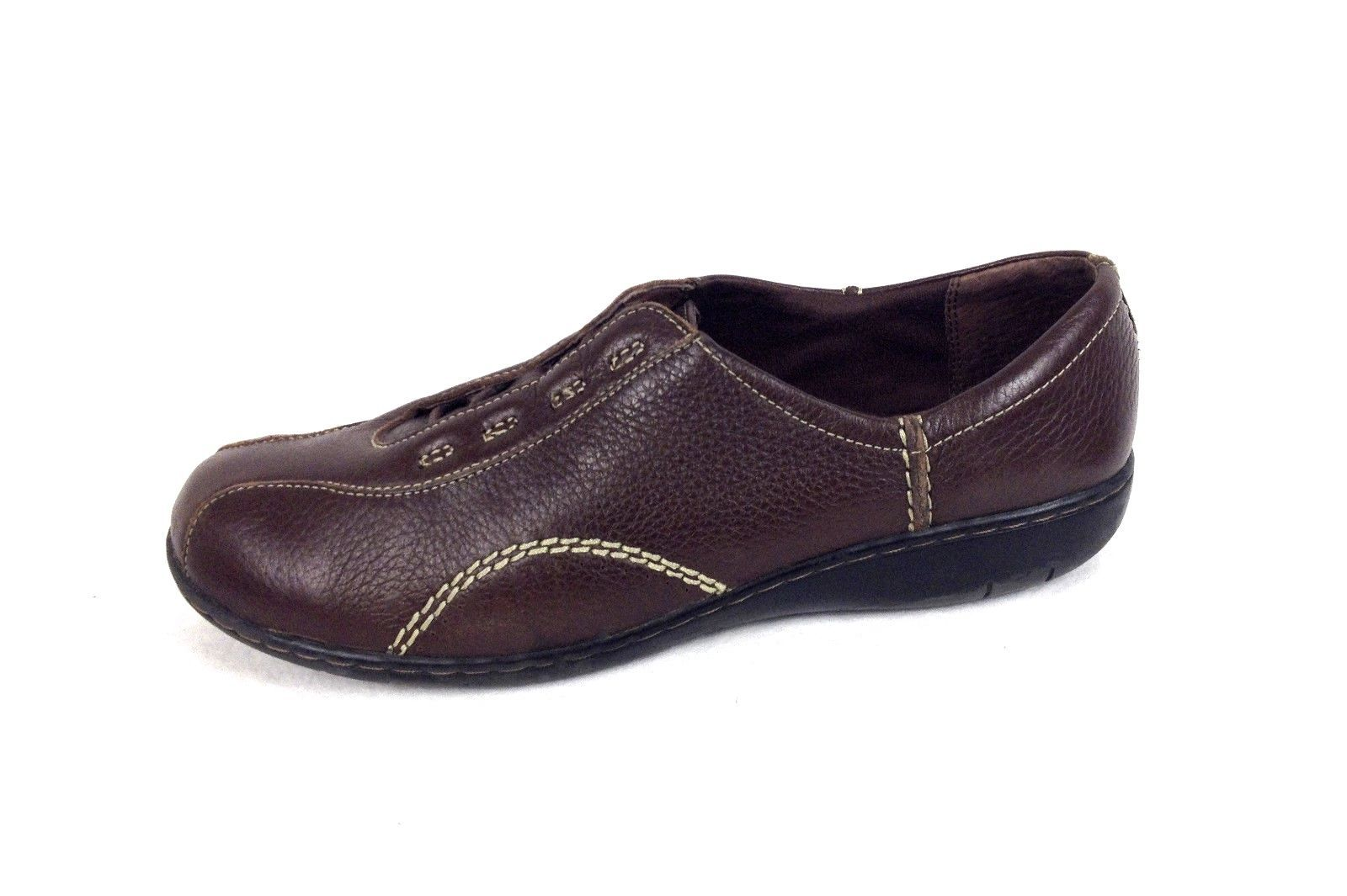 clarks shoes 10 womens brown leather oxfords for sale
