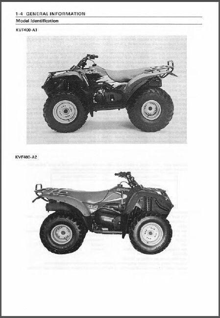 97 02 kawasaki prairie 400 4x4 atv service repair workshop manual cd rh unisquare com kvf 400 service manual Parts Manual