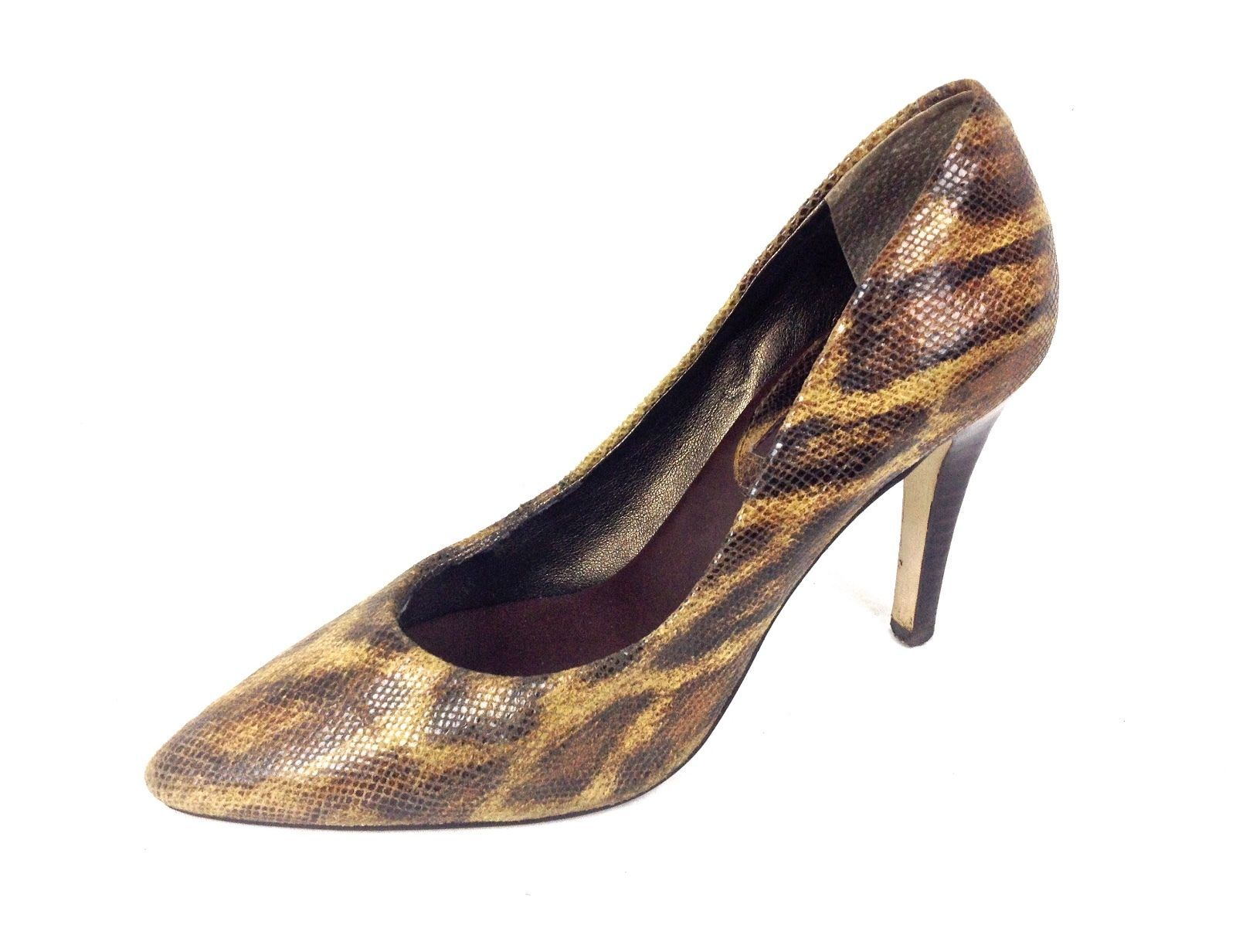 Banana Republic Shoes 6.5 Womens Brown Leather Heels For Sale - Item #1474110