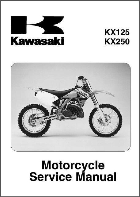 03 05 kawasaki kx125 kx250 service repair workshop manual cd kx rh unisquare com 2001 kx 125 service manual pdf 2002 KX125