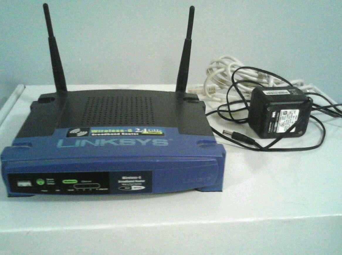 WRT54G v5 Linksys BROADBAND ROUTER wirelessG EtherFast switch ethernet  internet