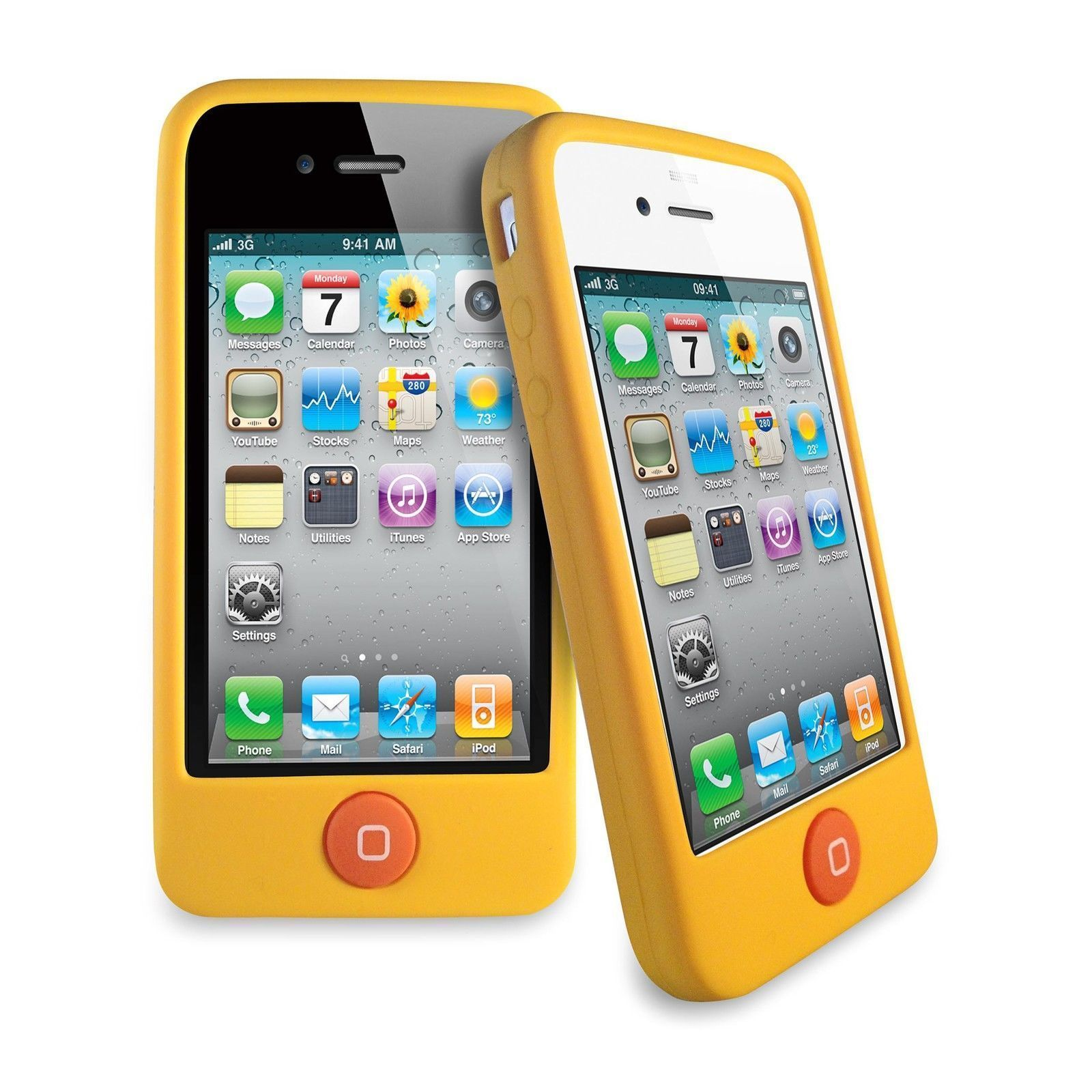 iphone 4s cases for sale yellow jellybean button soft rubber silicone cover 17349