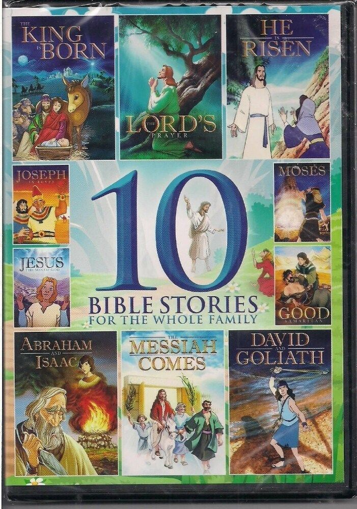 Dvd 10 Bible Stories For The Whole Family New For Sale