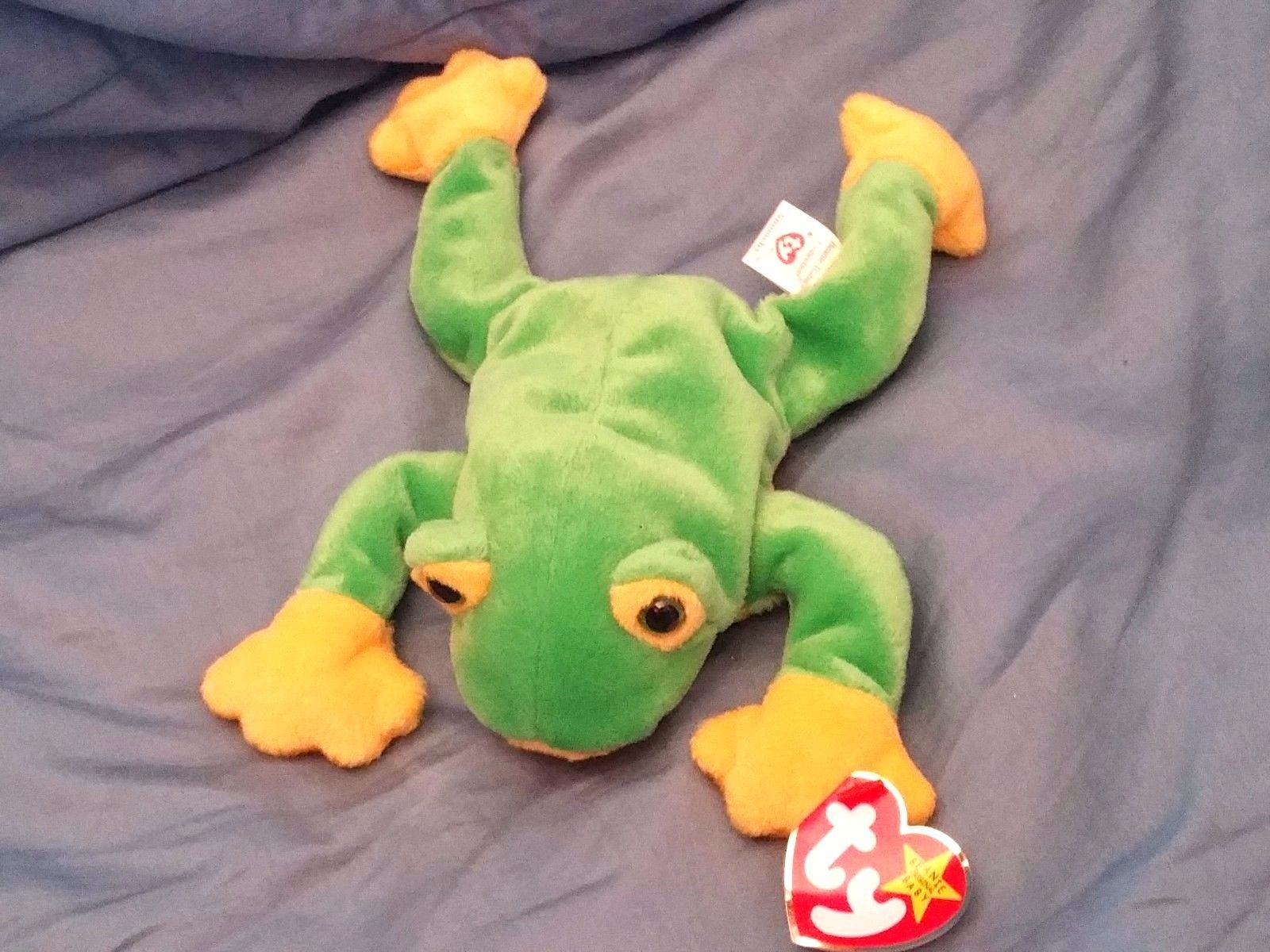 RETRO ORIGINAL TY BEANIE BABY PLUSH SMUCHEY FROG COLLECTIBLE NICE For Sale  - Item  1619540 e8dce3d8148