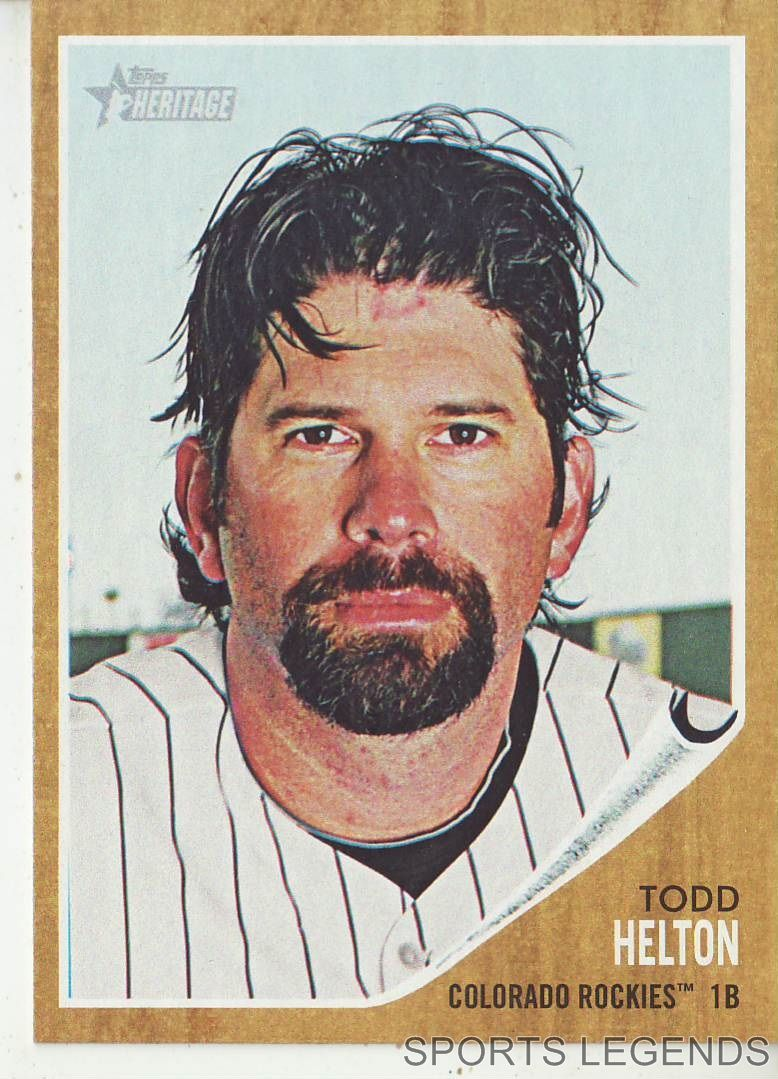 2011 heritage 189 todd helton for sale item 1609590 for Todd helton