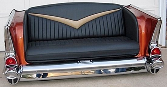 55-59 Classic Chevy, Ford, MBZ, Caddie CUSTOM CAR COUCHES AND ...