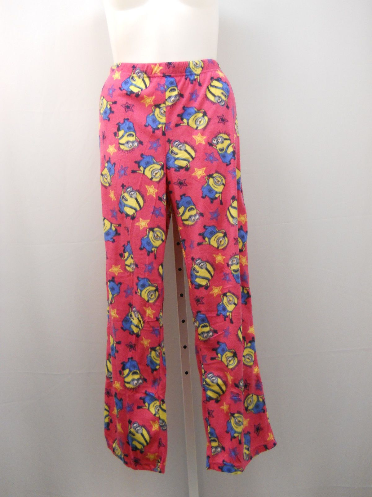28842879144926 Despicable Me Minions Woman s Pajama Bottoms Size 20 Pink Micro Fleece  Sleepwear For Sale - Item  1628248