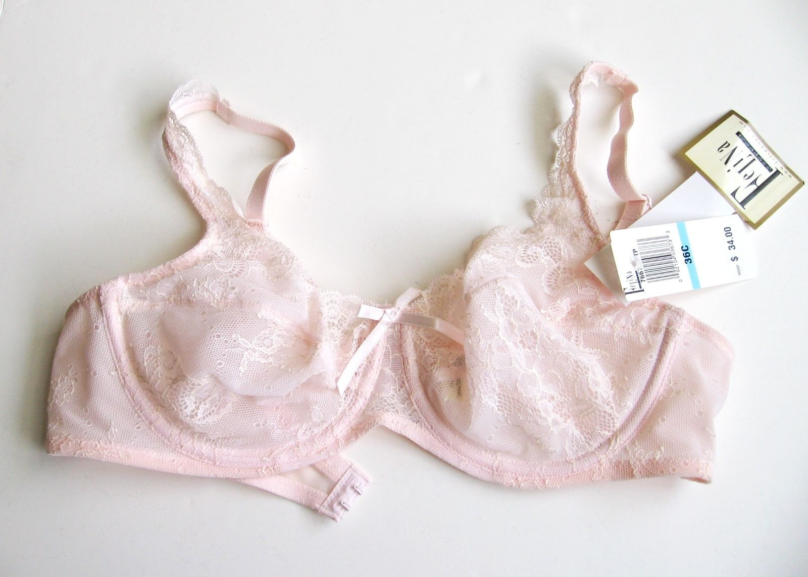 XB0050 Wacoal NEW 85333 Pink Seamless Embroidered Lace N Mesh Contour UW Bra PR