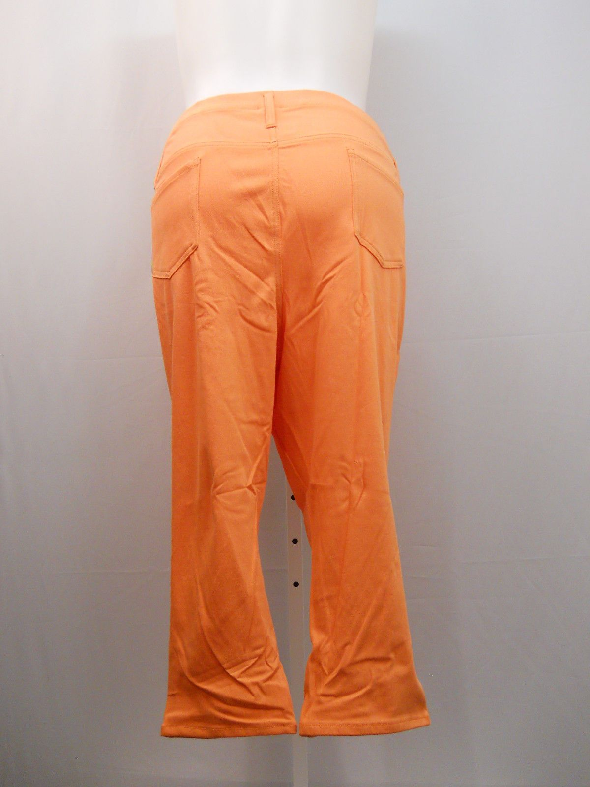 3354b9f94d0 PLUS SIZE 4X Womens Capri Jeggings True Coral FADED GLORY Back Pockets Mid  Rise For Sale - Item  1646355